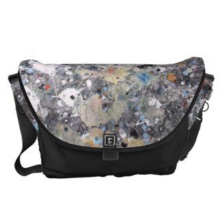 Splashed Abstract Messenger Bag