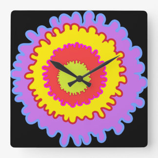 Splashed Square Wall Clock