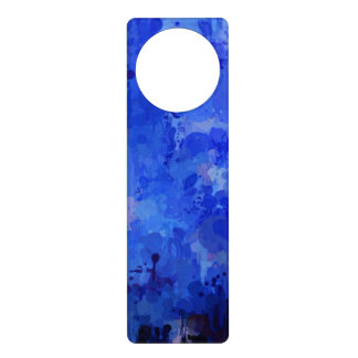 splashes of color, blue door knob hangers