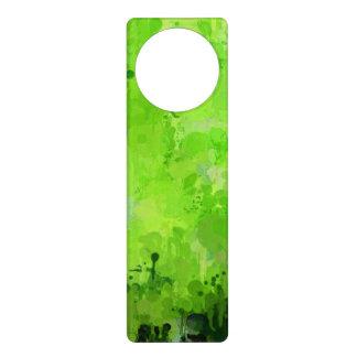 splashes of color, green door knob hanger