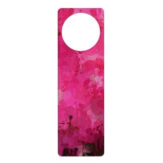 splashes of color, hot pink door hanger