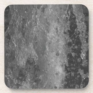 Splashes of fountain water (black and white) coaster