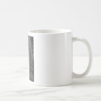 Splashes of fountain water (black and white) coffee mug