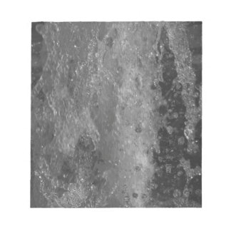 Splashes of fountain water (black and white) notepad