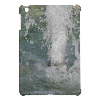 Splashes of fountain water in a sunny day iPad mini cover