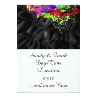splashes on black 13 cm x 18 cm invitation card