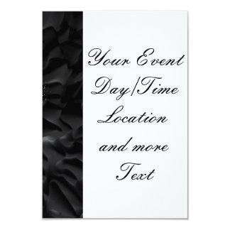 splashes on black 9 cm x 13 cm invitation card