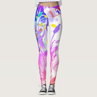 Splashes, Splotches & Musical Notes Leggings