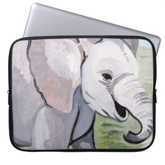 Splashing About Baby Elephant (K.Turnbull Art) Laptop Sleeve
