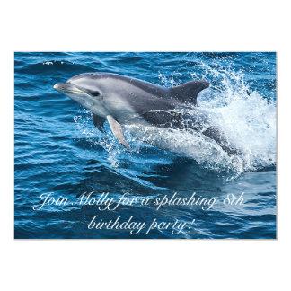 Splashing Dolphin Birthday Invitations