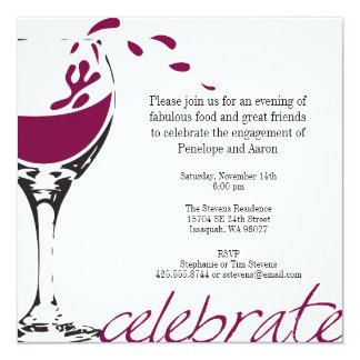 Splashing Merlot Party Invitation