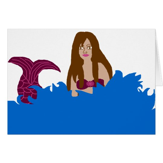 Splashing Mermaid blank card