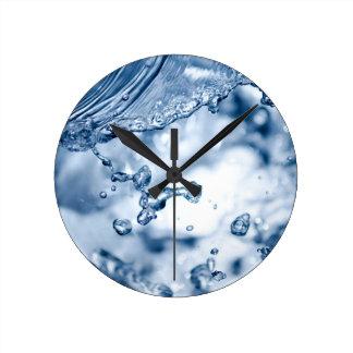 Splashing water round clock