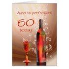 Splashing wine 60th birthday card