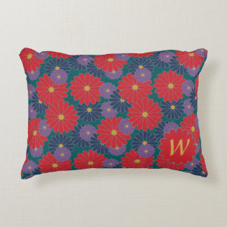 Splashy Fall Floral Accent Pillow