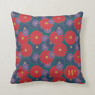 Splashy Fall Floral Pillow