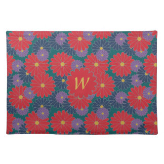 Splashy Fall Floral Place Mat