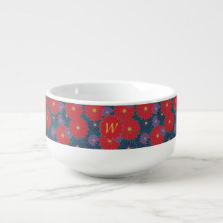 Splashy Fall Floral Soup Mug
