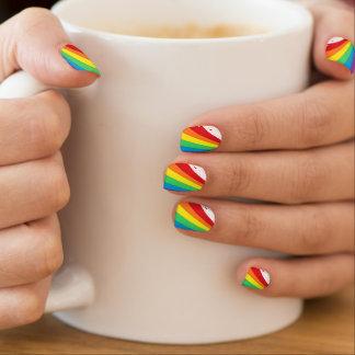 Splashy Rainbow Minx Nail Art