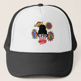 Splat (bun) trucker hat