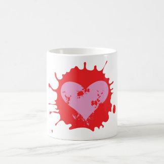 Splat Heart Classic White Coffee Mug