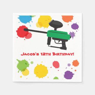 Splat Paintball Kids Birthday Party Paper Supplies Paper Serviettes