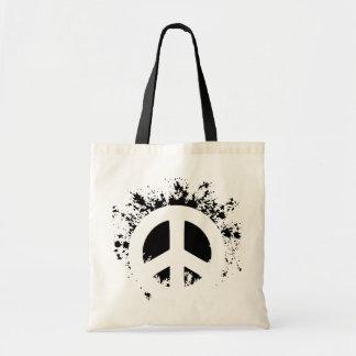 Splat Peace Canvas Bag