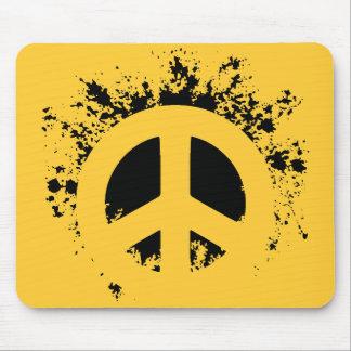 Splat Peace Mouse Pad