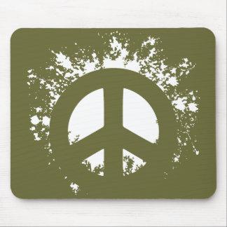 Splat Peace Mouse Pads