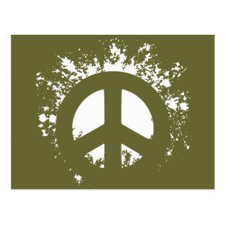 Splat Peace Postcard