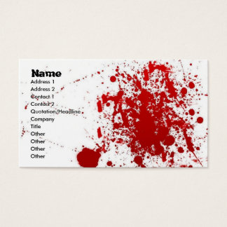 Splatter Card