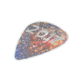 Splatter   Colorful Rainbow Abstract Psychedelic Pearl Celluloid Guitar Pick