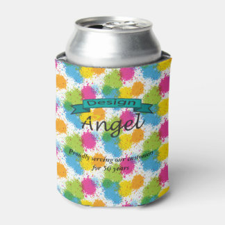 Splatter Custom Business Logo Branded Can Coolers