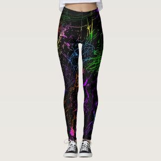 Splatter design leggings