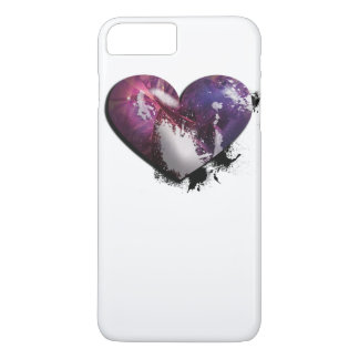splatter heart iPhone 7 plus case