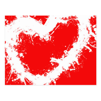 Splatter Heart Postcard