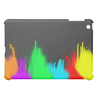 Splatter on carbon fiber iPad Case