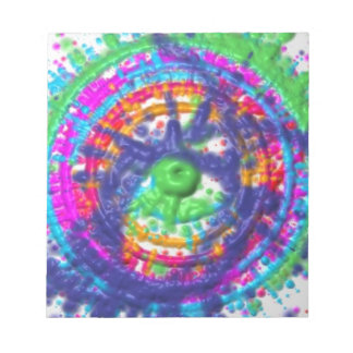 Splatter paint color wheel pattern notepad