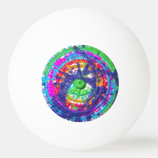 Splatter paint color wheel pattern ping pong ball