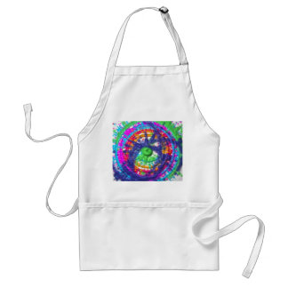 Splatter paint color wheel pattern standard apron