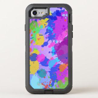 splatter paint Design OtterBox Defender iPhone 7 Case
