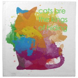 Splatter Paint Kitty Cat Napkin