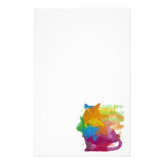 Splatter Paint Kitty Cat Stationery