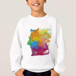Splatter Paint Kitty Cat Sweatshirt