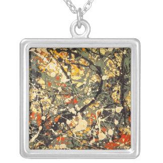 Splatter paint necklace