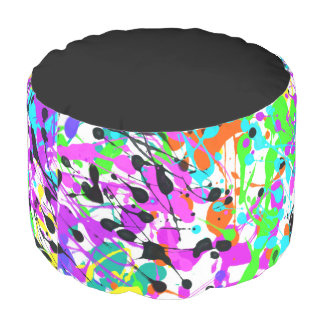 Splatter Paint Pouf