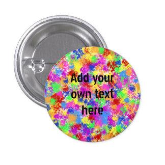 Splatter Paint Rainbow of Bright Color Background 3 Cm Round Badge