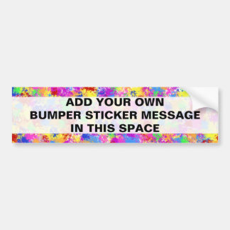 Splatter Paint Rainbow of Bright Color Background Bumper Stickers