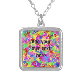 Splatter Paint Rainbow of Bright Color Background Custom Jewelry