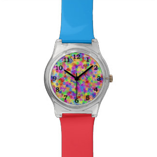 Splatter Paint Rainbow of Bright Color Watch